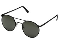Randolph P 3 Shadow 49Mm Matte Black Gray Glass Fashion Sunglasses Orange