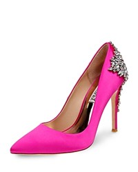 Badgley Mischka Gorgeous Embellished Pointed Toe Pumps Carmine Pink