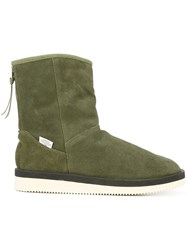 Suicoke Shearling Lined Boots Green
