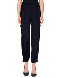 Seventy Trousers Casual Trousers Women Dark Blue