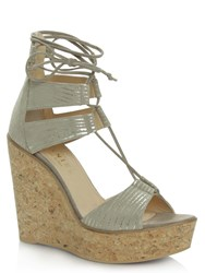 Daniel New England Strappy Wedge Sandals Beige