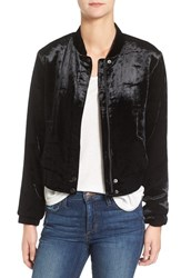 Joe's Jeans Women's Lexi Crop Velvet Bomber Jacket