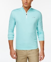 Greg Norman For Tasso Elba 1 4 Zip Pullover Aqua Blast