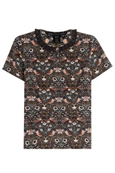 Marc By Marc Jacobs Printed Top With Collar Multicolor