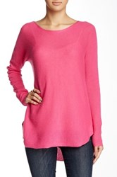 14Th And Union Hi Lo Cashmere Sweater Pink