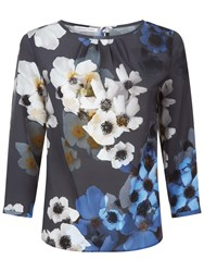 Fenn Wright Manson Flower Print Ariel Blouse Grey
