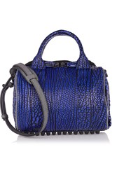 Alexander Wang Rockie Textured Leather Tote Purple