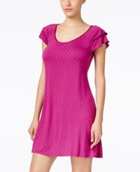 Alfani Flutter Sleeve Nightgown Only At Macy's Raspberry Dot