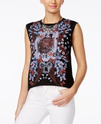 Alice Through The Looking Glass Juniors' Graphic Tank Top Black Red