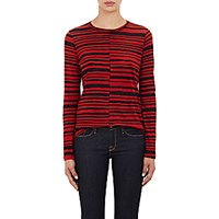 Proenza Schouler Women's Tissue Weight Long Sleeve T Shirt Black Red Black Red