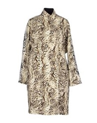 Emanuel Ungaro Full Length Jackets Beige