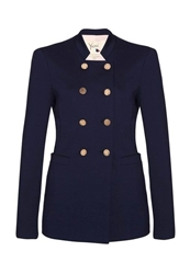 Yumi Caban Crois Blazer Navy Dark Blue
