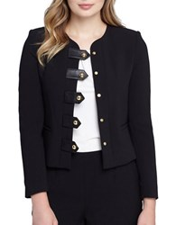 Tahari By Arthur S. Levine Faux Leather Jacket Black