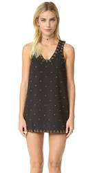 Free People Soho Studded Shift Dress Black