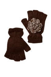 San Diego Hat Company Fingerless Gloves Brown