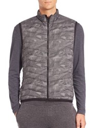 Theory Puffer Vest Grey Multi