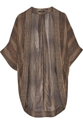 Tart Collections Kyoto Printed Chiffon Coverup Brown