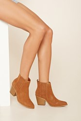 Forever 21 Leather Chelsea Boots