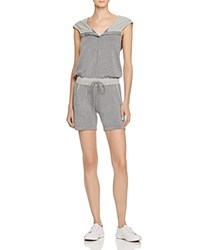 Zobha Cross Back Hoodie Romper Compare At 84 Heather Gray