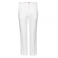 Roland Mouret Mimosa Stretch Cotton Trousers White