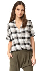 Madewell Courier Drape Shirt Almost Black