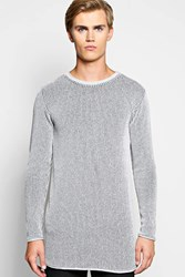 Boohoo Fit Two Tone Ribbed Longline Sweater Grey