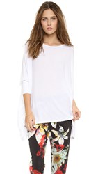 Air By Alice Olivia Boat Neck Rectangle Tee White