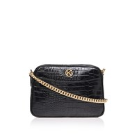Kurt Geiger Croc Plum Cross Body Black