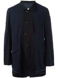 Ziggy Chen Contrast Panel Jacket Blue