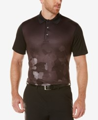 Pga Tour Men's Patterned Golf Polo Caviar