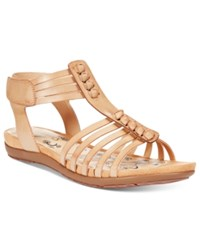 Bare Traps Ronda Flat Sandals Women's Shoes Tan