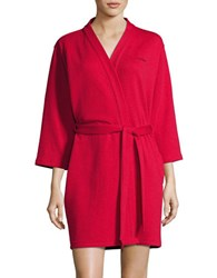 Calvin Klein Short Textured Robe Regal Pink