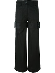 Sacai Buckle Strap Trousers Black