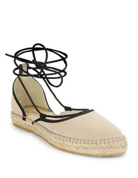 Free People Marina Lace Up Espadrille Flats Natural
