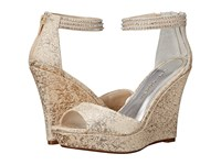 Caparros Chablis Gold Brocade Women's Wedge Shoes