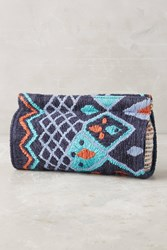 Anthropologie Kilim Clutch Blue