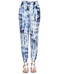 Ralph Lauren Black Label Adria Tie Dye Harem Pants Blue Multi