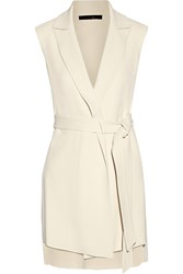 Victor Alfaro Belted Stretch Cady Gilet White