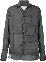 Greg Lauren Crooked Patchwork Shirt Grey
