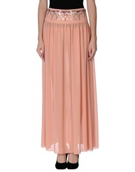 Pinko Black Skirts Long Skirts Women Salmon Pink