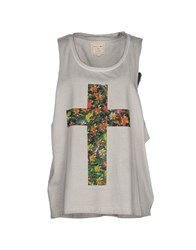 Eleven Paris Topwear Vests Women Light Grey