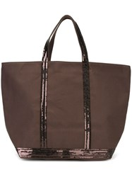 Vanessa Bruno Sequin Embellished Tote Brown