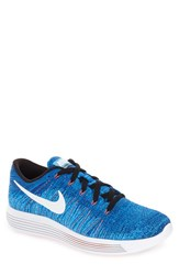 Nike Men's 'Lunarepic Low Flyknit' Running Shoe Racer Blue White Blue Glow