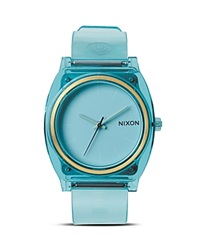Nixon The Time Teller Watch 40Mm Translucent Mint