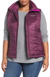Columbia Plus Size Women's 'Mighty Lite Iii' Quilted Vest Purple Dahlia
