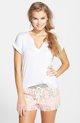 Bp. Undercover Lace Lounge Shorts Juniors Pink Veil Rose
