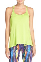 Women's Betsey Johnson Scalloped Space Dye Tank Charming Chartruese