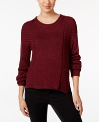 Calvin Klein Jeans Ribbed Sweater Plum Cherry