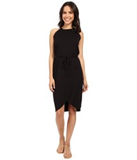 Michael Stars Wrap Front Halter Dress Black Women's Dress