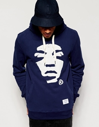 Supreme Being Supremebeing Hoodie With Face Print Navy